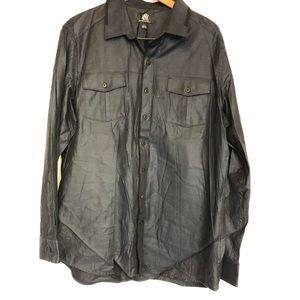 Rock & Republic XL slate blue button front shirt